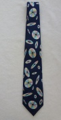 Gents Neck Tie Blue with floating CDs