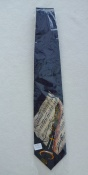 Gents Neck Tie with clarinet